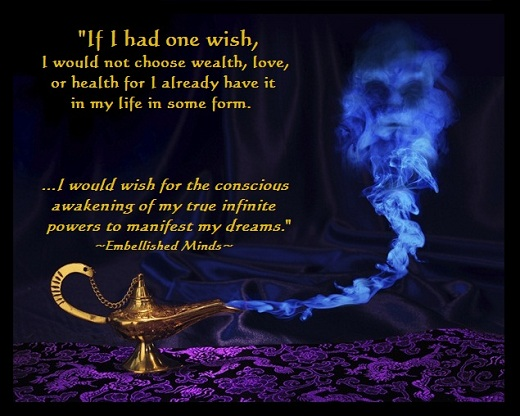 genie Conscious Quotes: If I Had One Wish