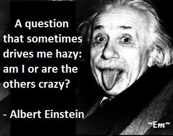 Albert Einstein Albert Einstein Quotes: Am I Crazy?