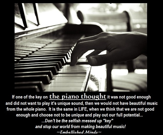 Life Quotes - piano key
