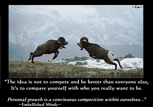 inspirational quotes compete Inspirational Quotes: Competition with Ourselves