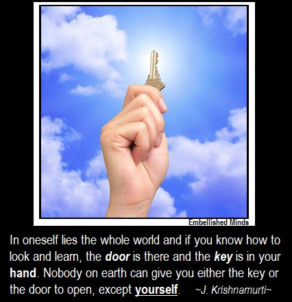 success quotes krishnamurti Success Quotes: The Key is IN Your Hand
