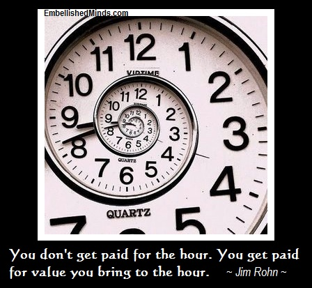 inspirational quotes clock Inspirational Quotes: You Dont Get Paid for the Hour