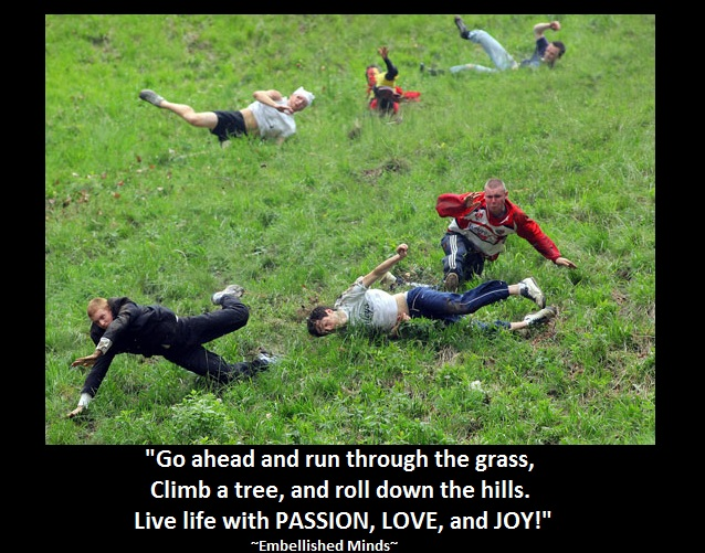 life-quotes - rolling down hill