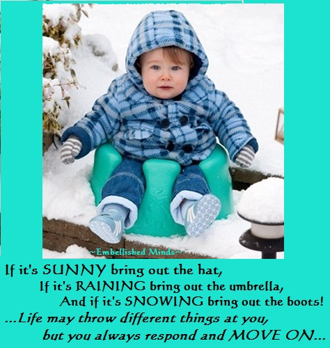 motivational quotes - baby in snow