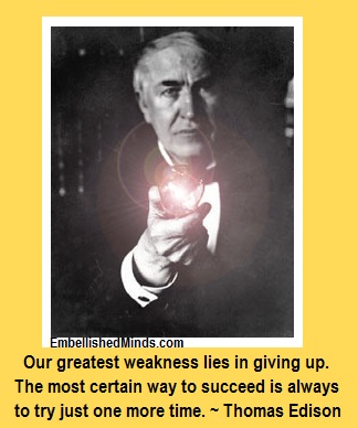 motivational quotes thomas edison lightbulb Motivational Quotes: Try Just One More Time